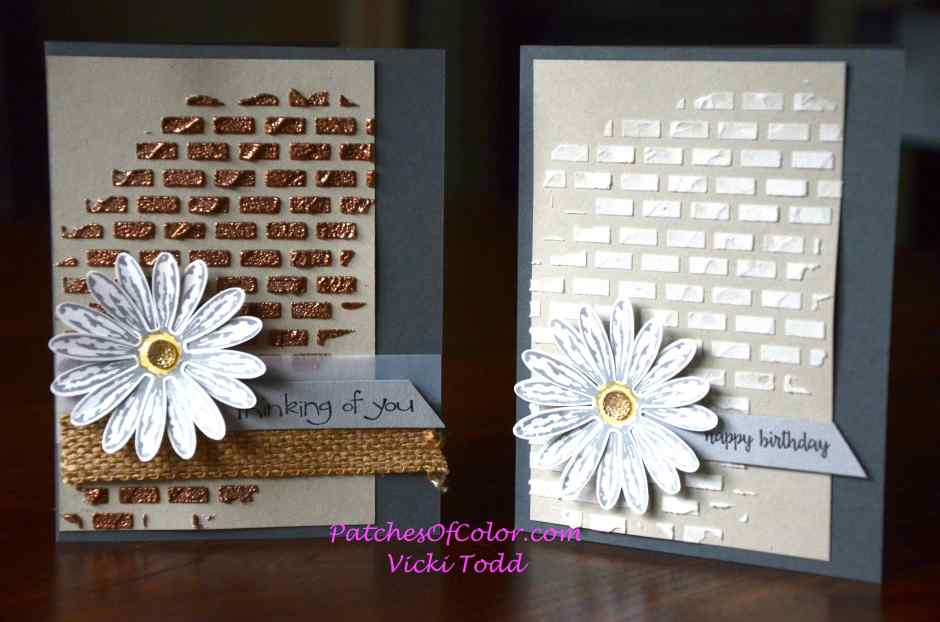 Embossing paste brick wall